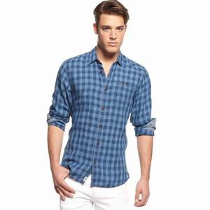 Tommy hilfiger Checkered Linen Shirt Hilfiger Denim Collection in Blue for Men | Lyst