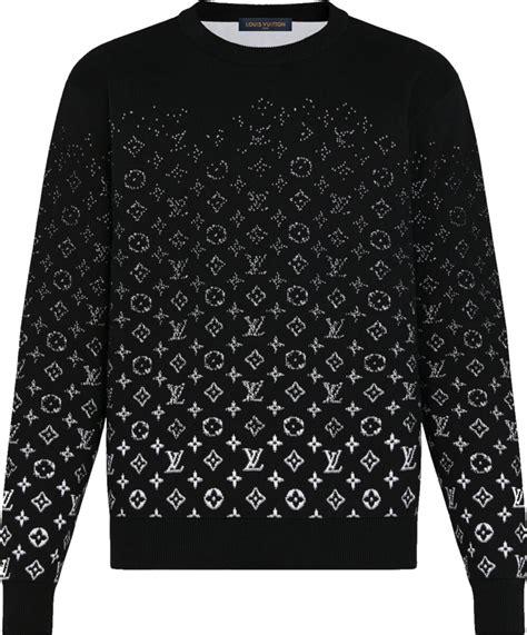 louis vuitton black white gradient monogram sweater incorporated style