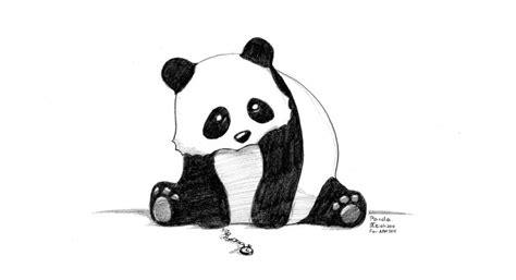 drawn panda pencil   color drawn panda