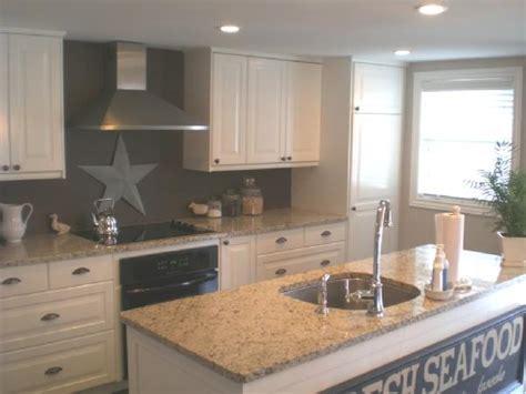 white cabinets gray walls giallo ornamental granite transitional kitchen cr