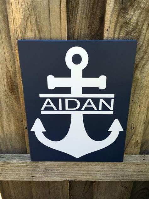 17 marvelous nautical wall decor ideas. Nautical Wall Decor Nursery Anchor Decor Sign Personalized