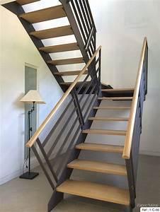 Escalier Metal Prix : fabrication escalier metal bois escalier moderne en ~ Edinachiropracticcenter.com Idées de Décoration