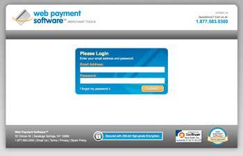 virtual credit card terminal web payment software
