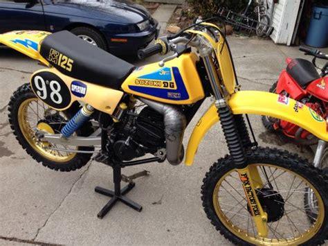 suzuki rm vintage mx motorcycle  sale