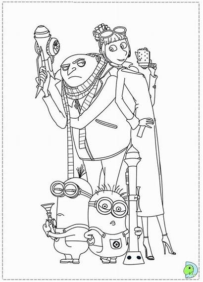 Coloring Despicable Gru Pages Minions Printable Minion
