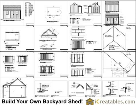 8x8 shed plans pdf residential storage buildings