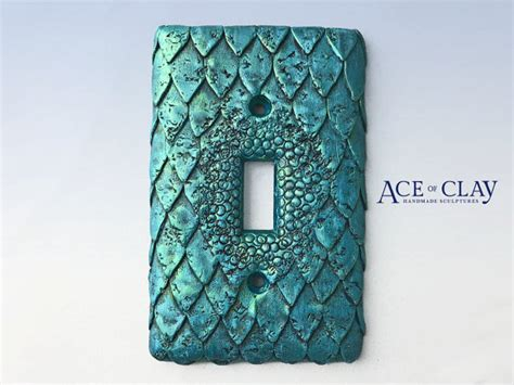 Mermaid Fish Scale Light Switch Cover Sculpey Unique Wall