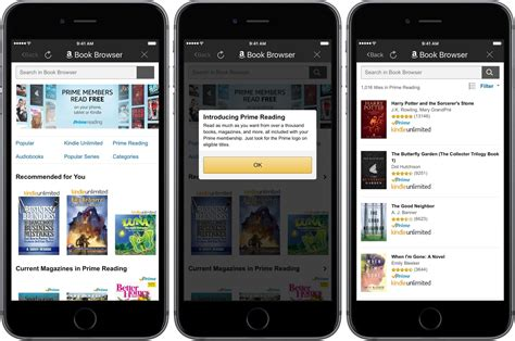 prime reading added to the kindle ios app the