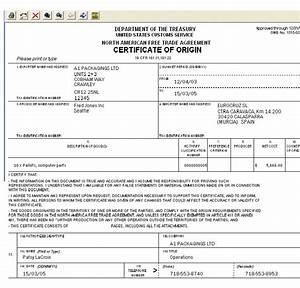 image gallery nafta certificate of origin With nafta certificate of origin template