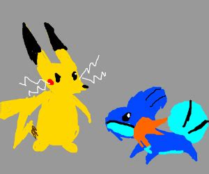 electric mouse vs mud fish drawception