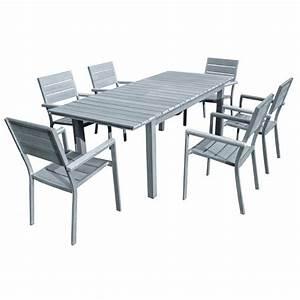 Salon De Jardin Aluminium Et Composite : salon de jardin aluminium et bois composite ~ Edinachiropracticcenter.com Idées de Décoration