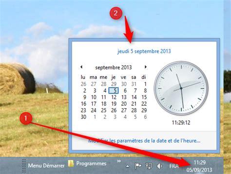 afficher horloge sur bureau windows 7 afficher l horloge sur le bureau 28 images installer