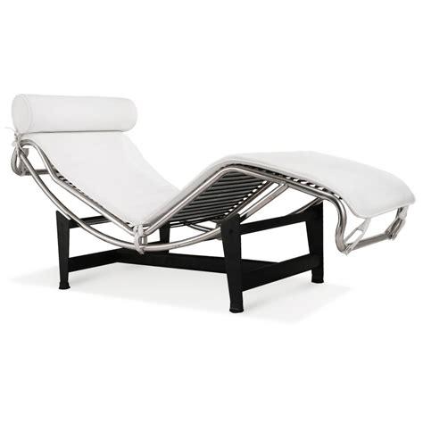 la chaise le corbusier la chaise chair lc4 chaise lounge white