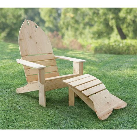 adirondack chair and ottoman fish adirondack chair and ottoman 92341 patio furniture