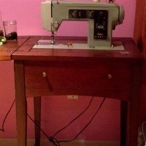 Vintage Sears Kenmore Sewing Machine In Cabinet by Vintage Sears Kenmore Sewing Machine