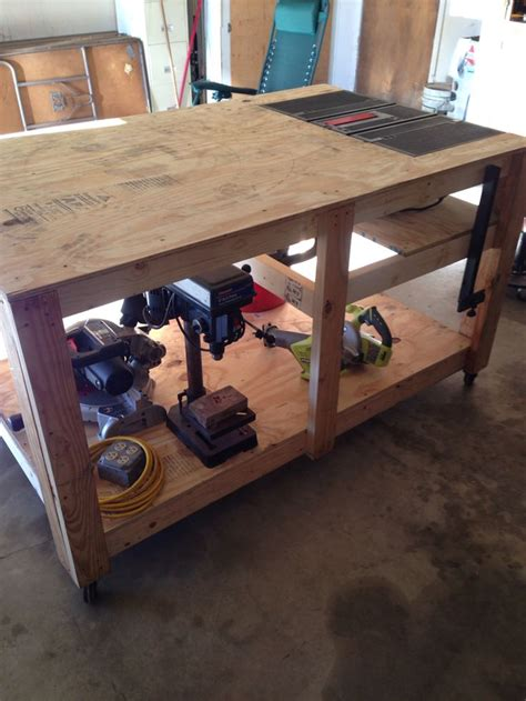 rolling work bench  built  table