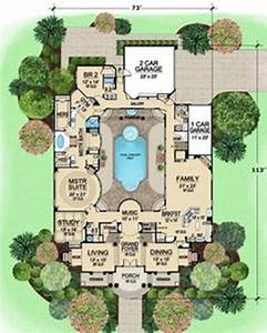 home designs l shaped house plans with courtyard pool l With floor plans with pool in the middle