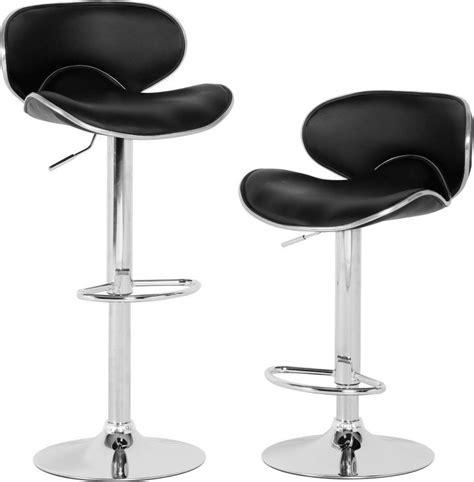 bahama swivel bar chair with gas lift pair chrome black buy at qd stores