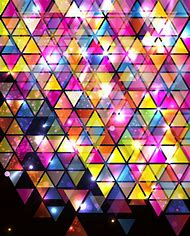 Abstract Colorful Triangle Patterns