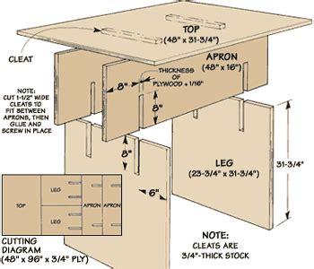 knock  worktable   single sheet  ply wood