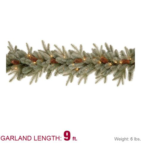 feel real alaskan spruce tree martha stewart living 9 ft feel real alaskan spruce artificial garland with pinecones and 50