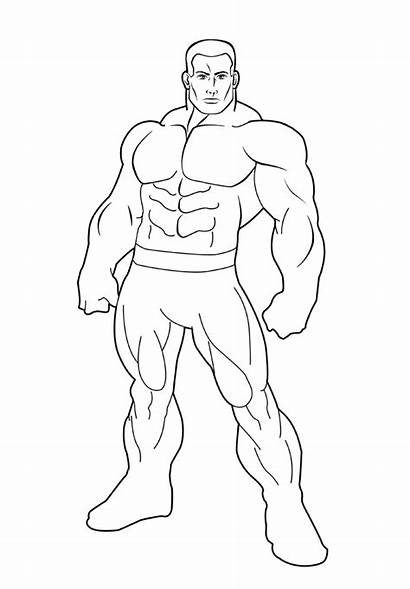 Superhero Outline Template Drawing Hero Deviantart Templates