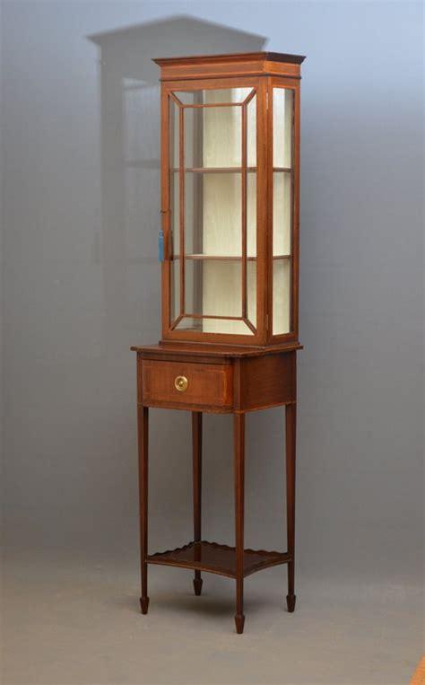 Slim And Tall Edwardian Display Cabinet Vitrine