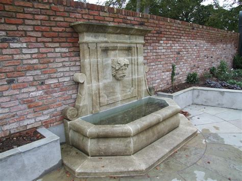 patio water features with garden wall feature pictures