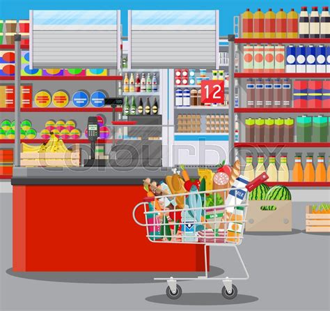 home layout plans supermarket store interior with goods big shopping mall