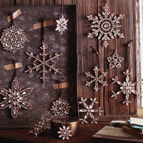 victorian rhinestone snowflake tree ornaments set