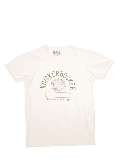 Phys. Ed.Tube Tee - Green Print Milk — Brooklyn Clothing