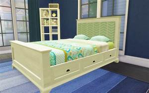 honeysims pottery barn style bed frame and fabric With barn style bed frame