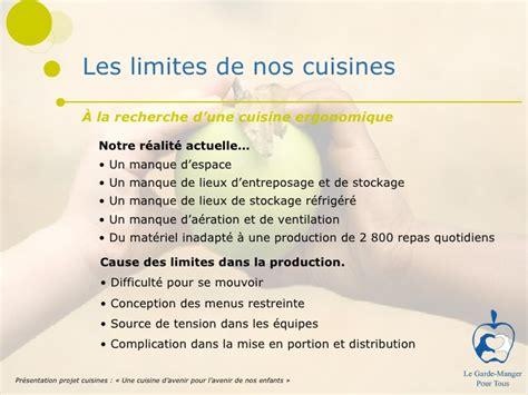 cuisine pour gar輟n modernisation des cuisines du garde manger pour tous