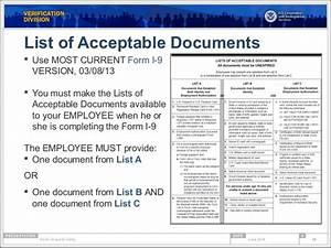 form i 9 compliance e verify webinar With list acceptable documents i 9