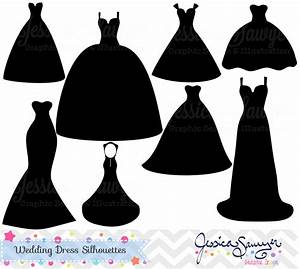 Wedding dress silhouette clip art for Wedding dress silhouettes
