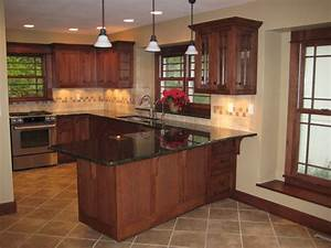 complete arts and crafts quartersawn white oak kitchen With kitchen colors with white cabinets with art and craft wall hanging