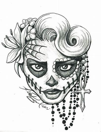 Pencil Drawings Easy Skull Sugar Coloring Pages