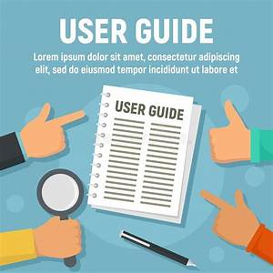 User Guide Icon  Outline Style Stock Vector