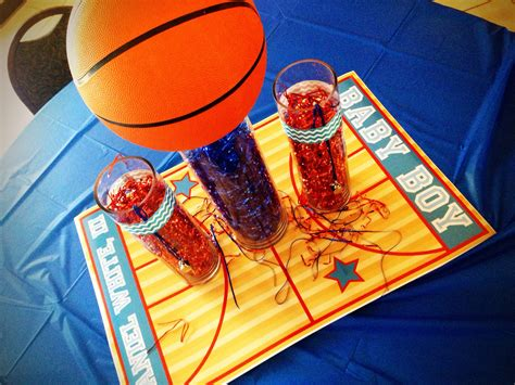 basketball baby shower centerpiece baby showers  chloe