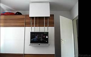 Kleiderschrank Mit Fernseher : diy tv lift auf schrank on cupboard offen cupboard diy lift offen on schrank tv hifi ~ Sanjose-hotels-ca.com Haus und Dekorationen