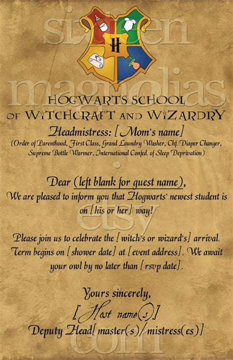 Harry Potter Baby Shower Invitations - harry potter baby shower invitation kasandra riehle