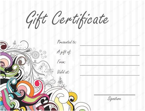 Birthday Gift Certificate Template Free Costumepartyrun