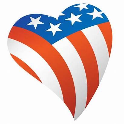 Flag American Usa Heart Patriotic Vector Illustration