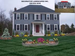 home design mã bel amazing of home front landscape colonial home front yard landscape design attleboro ma front