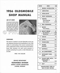 1956 Oldsmobile Repair Shop Manual Reprint
