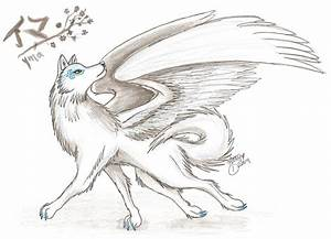 The gallery for --> Anime Ice Wolf With Wings