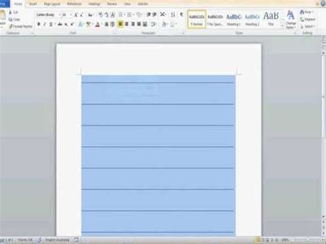 How To Make The Line The E In Resume by How To Create Ruled Lines In Ms Word Part 1