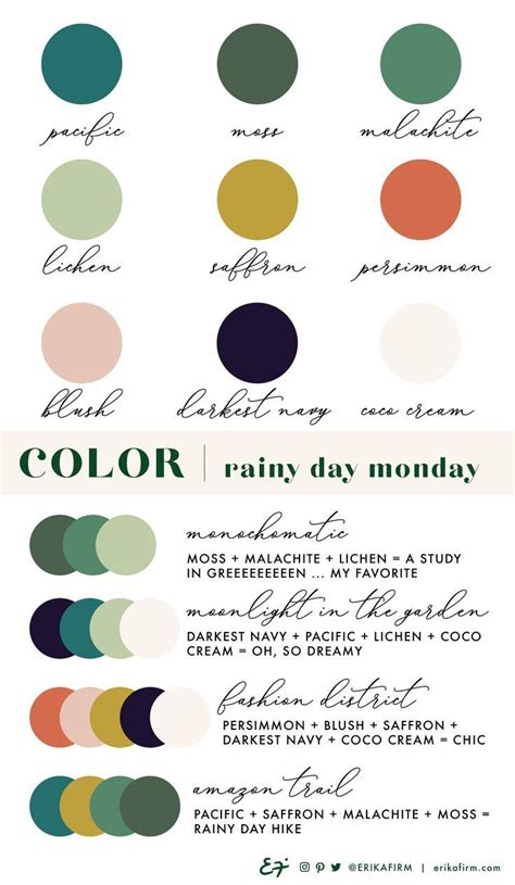 color palette rainy day monday by erika firm palettes in