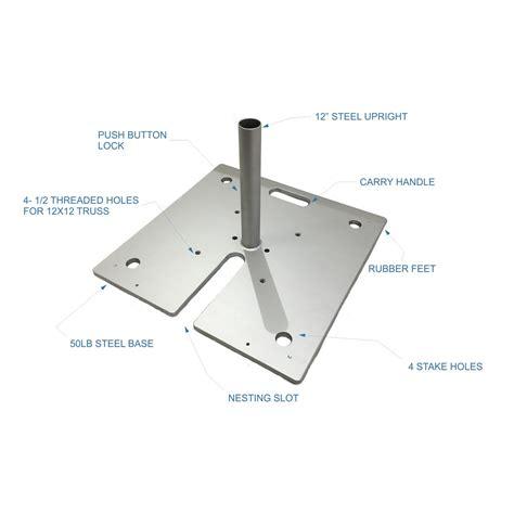 pole base 20 50lb freestanding post base b r
