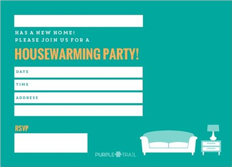 blank housewarming party invitation template